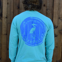 Waters Bluff Woodgrain Long Sleeve Tee- Mint