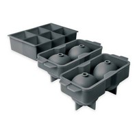 Elements by Tovolo® 3-Piece Sphere and Jumbo Cube Ice Mold Set