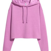 Short Hooded Sweatshirt - from H&M