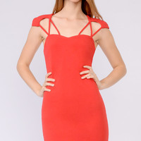 Sweetheart Cut Bodycon Dress