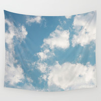 Clouds Wall Tapestry by Rebekah Joan