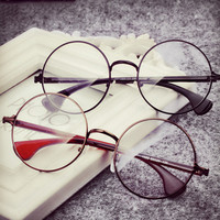 Harry Potter Vintage Round Plain Mirror Optical Eyewear Full Frame Special Offer Brand Nerd Eye Frame Glasses Oculos de grau