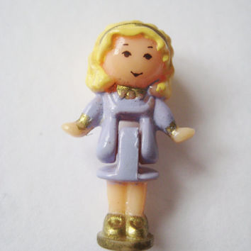 Vintage 1993 Polly Pocket Figure From Bay Window Bluebird Miniature Toy Compact Gently USED