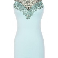 Lace Neck Bodycon Dress - 29 N Under
