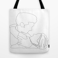 Grey's Anatomy // Meredith and Derek Tote Bag by Bethany Mallick