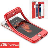Soft 360 Degree Full Body Coverage Soft TPU Silicone Case For iPhone X 7 Plus iPhone 5 5S SE 6 6S 8 Plus Cover