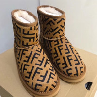 Fendi Print Brown Ugg Boot