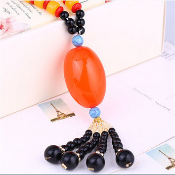 Gift Stylish Shiny Jewelry New Arrival Gemstone Pendant Sweater Chain Necklace [10065752198]