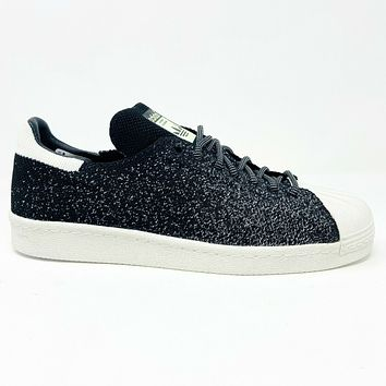 Adidas Superstar 80s Primeknit All Star Black White S32029 Mens Glow In Darnk