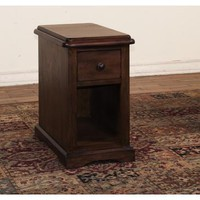 Sunny Designs 3231AC-CS Savannah Chair Side Table In Antique Charcoal