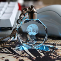 [PCMOS] 2017 New Anime YURI on ICE Victor Nikiforov Crystal LED Light Charn Keychain Gift 16120622