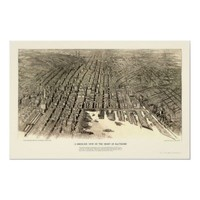Baltimore, MD Panoramic Map - 1912 Print from Zazzle.com