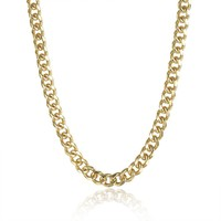"""Classic 18"""" Link Chain in 18K Gold Plated"""
