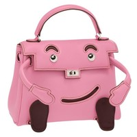Hermes Limited Edition Pink Swift Leather Quelle Idole Kelly Doll Bag JaneFinds