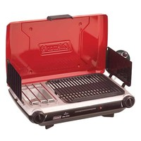 Coleman - Two Burner Camp Stove | Grill for Camping | Coleman - PerfectFlow™ InstaStart Grill Stove