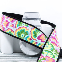 dSLR Camera Strap, Modern Floral, Replacement strap for Canon Nikon Pentax Minolta Camera, Mirrorless, SLR, 36 w