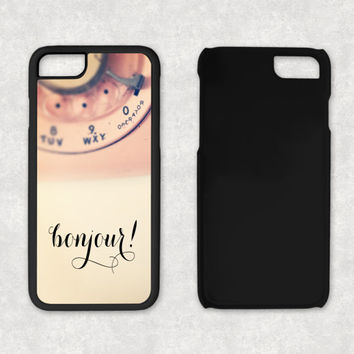 Bonjour Pink Rotary Phone Case, Rubber iPhone 5 Case, iPhone 5S Case Rubber, Vintage Pink Phone Case