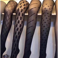 LOUIS VUITTON FENDI Fashion Women Sock Sexy Sockings Long Socks