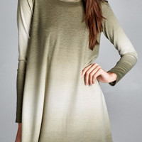 Olive Ombre Dress
