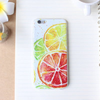 Summer Lemon Case Ultrathin Cover for iPhone 5 6 6s Plus