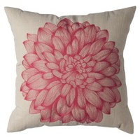 Threshold™ Decorative Peony Pillow - 18x18""