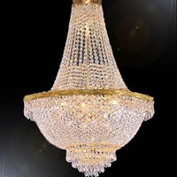 "44X66"" French Empire Crystal Chandelier Lighting Gold Chandeliers - Go-A93-870/24"