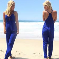 Risk Taker Jumpsuit In Royal Blue
