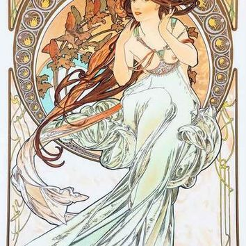 Alphonse Mucha The Arts - Music - Poster 11x17