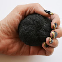 Lump of Coal Bath Bomb Christmas Bath Bomb with Activated Charcoal and Jojoba Oil, Cruelty Free Leaping Bunny Ceritfied