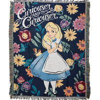 Disney Alice In Wonderland Curiouser And Curiouser Woven Tapestry Throw