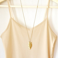 Gold Arrowhead Pendant Necklace, Boho Necklace, Layering Necklace