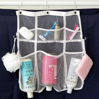 Day-First™ Evelots Quick-Dry Hanging Shower Caddy With Dispenser Pockets, 6 Pockets, White