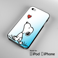 snoopy love heart iPhone 4 4S 5 5S 5C 6, iPod Touch 4 5 Cases