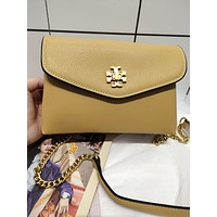 TB TORY BURCH WOMEN'S LEATHER KIRA INCLINED CHAIN SHOULDER BAG
