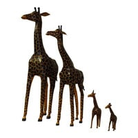 Handmade Paper Mache  Leather Giraffe Figurine
