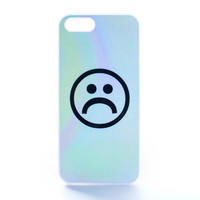 Frowny Face Pastel Color Case