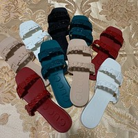 GUCCI Chain jelly beach slippers