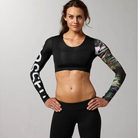 Reebok Women's Reebok CrossFit Compression Crop Top Long Sleeve Tops | Official Reebok Store