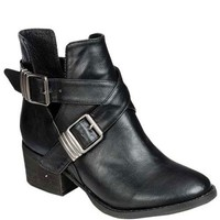 Buckled Black Ankle Boot