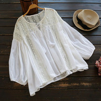 Cupshe Drawing A Blank Hollow Casual Top