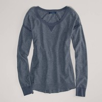 AE Pointelle Detail Sweater | American Eagle Outfitters