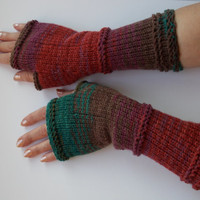 Knit gloves, Gloves with no fingers, Knit fingerless glove mittens, Fingerless Gloves, Wrist warmers, Knitting gloves, Valentines day gift
