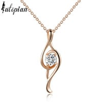 Iutopian Italina Rigant New Arrival Musical Note Pendant Necklace Colar With Austrian Crystal Stellux Cubic Zirconia #RG76444