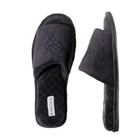 Dearfoams Women`s Quilted Open Toe Scuff Slippers