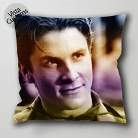 Still of christian bale pillow case, cushion cover ( 1 or 2 Side Print With Size 16, 18, 20, 26, 30, 36 inch )