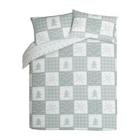 George Home Christmas Patchwork Duvet Set | Home & Garden | George at ASDA