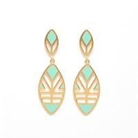 Mint Green Cebeza Earrings by Foxy Originals