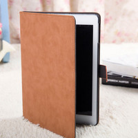 New arrive Fashion Design Travel PU Leather Flip Cover For Apple iPad Air 1 Case with Smart cover function cover for ipad 5