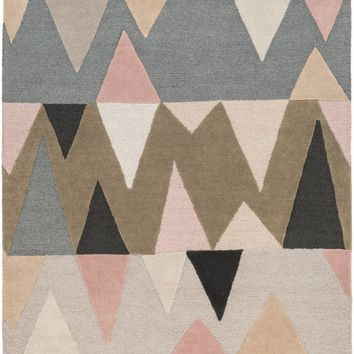 Kennedy Area Rug Brown, Blue