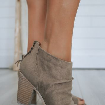 Valerie Booties - Taupe